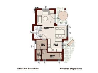 Concept Design 108 von Favorit Massivhaus Grundriss 1