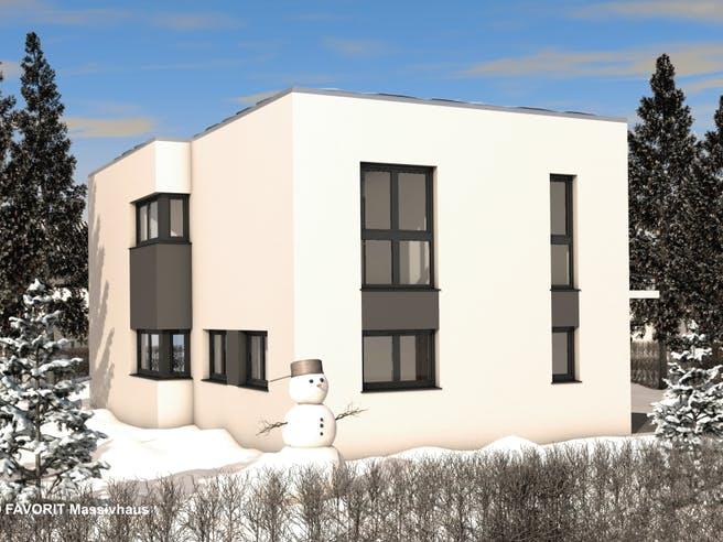 Concept Design 149 von Favorit Massivhaus Außenansicht 1