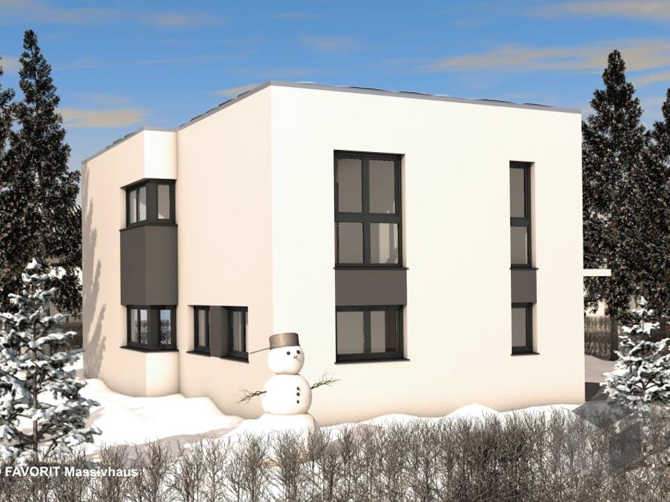 Concept Design 149 von Favorit Massivhaus Außenansicht