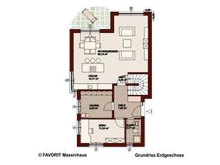 Concept Design 149 von Favorit Massivhaus Grundriss 1