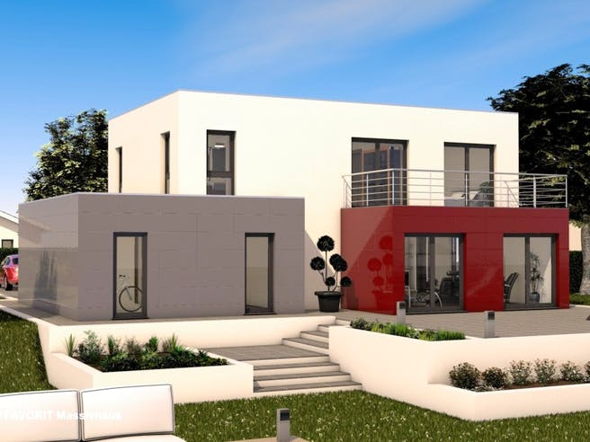 Concept Design 162 von Favorit Massivhaus Außenansicht 1