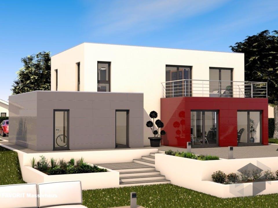 Concept Design 162 von Favorit Massivhaus Außenansicht