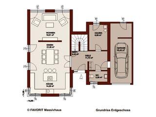 Concept Design 162 von Favorit Massivhaus Grundriss 1