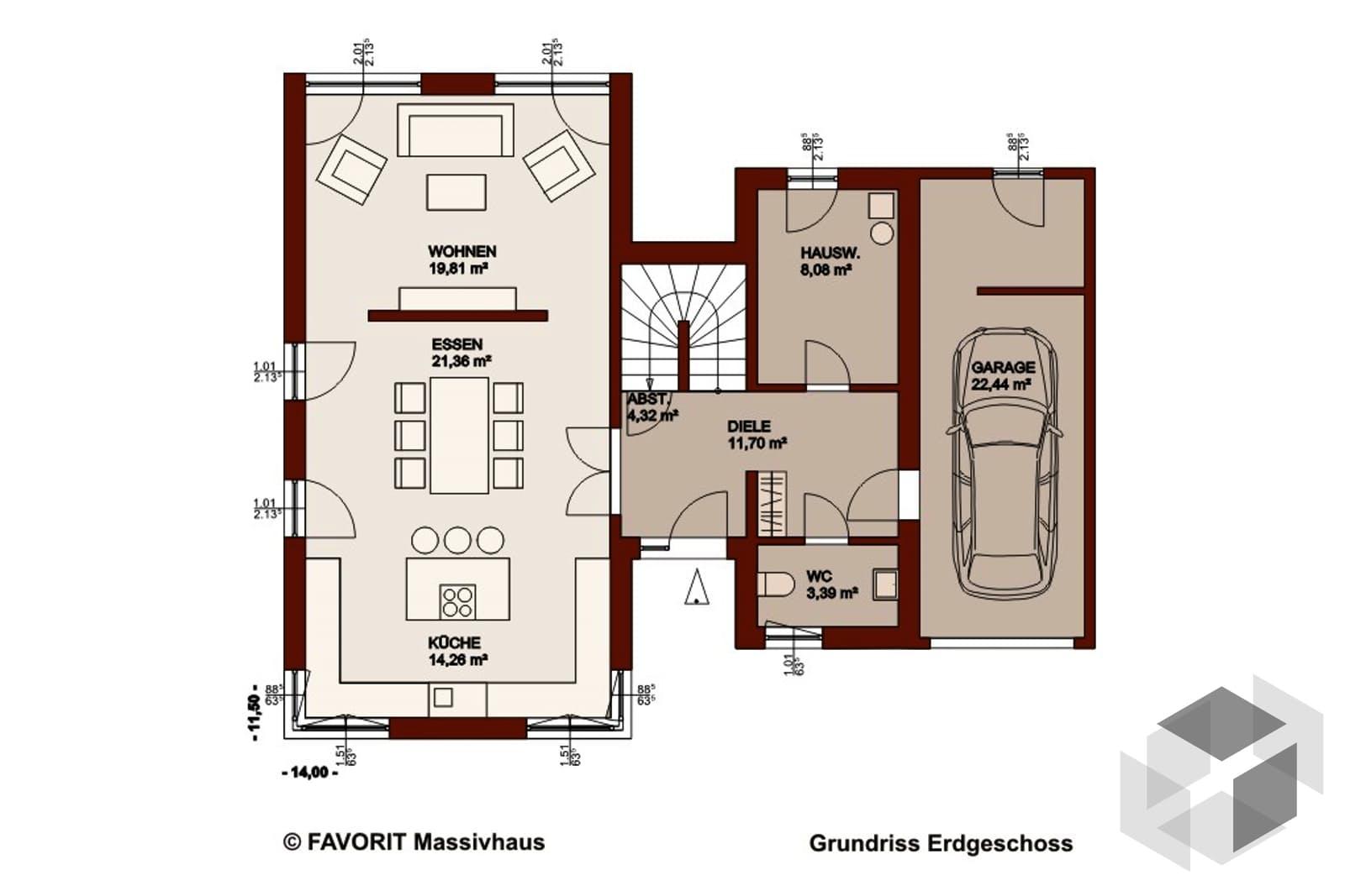 einfamilienhaus concept design  von favorit massivhaus