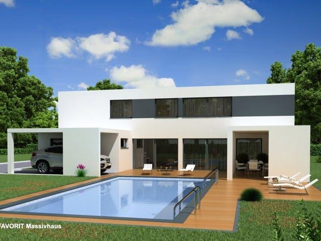 Concept Design 198 von Favorit Massivhaus Außenansicht 1