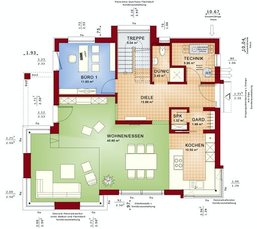 CONCEPT-M 153 Stuttgart Floorplan 1