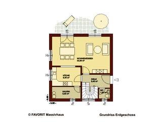 Creativ Sun 116 von Favorit Massivhaus Grundriss 1