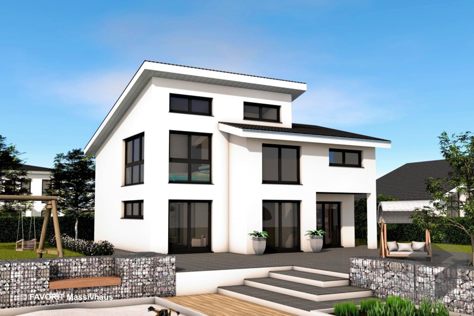 Creativ sun 141 von favorit massivhaus for Massivhaus modern