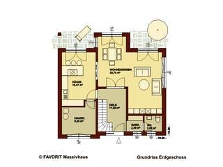 Creativ Sun 141 von Favorit Massivhaus Grundriss 1
