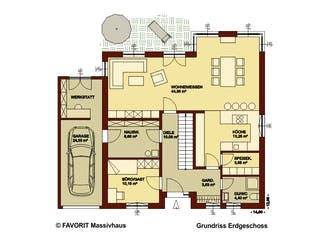 Creativ Sun 183 von Favorit Massivhaus Grundriss 1