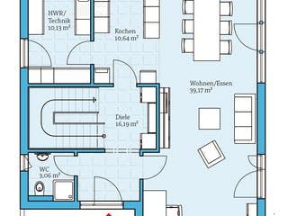 Cubus 162 von Hanse Haus Grundriss 1