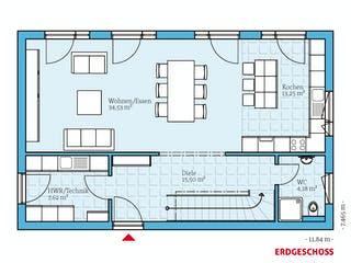 Cubus 148 von Hanse Haus Grundriss 1