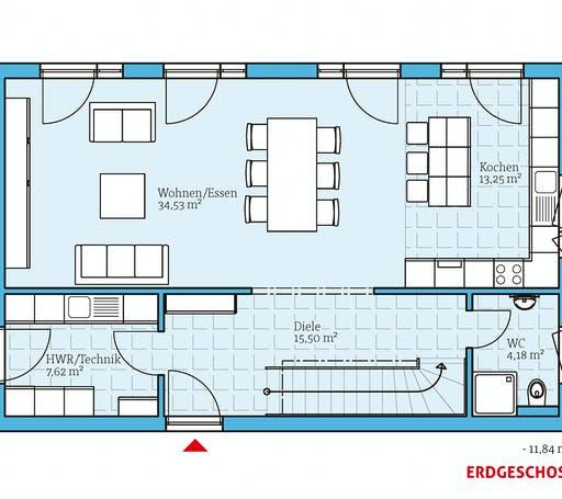 Hanse - Cubus 148 Floorplan 1