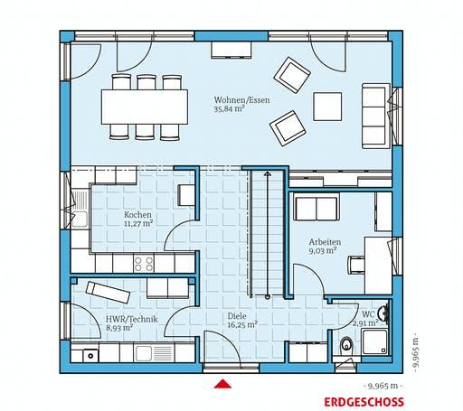 Hanse - Cubus 167 Floorplan 1