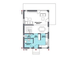 Living Point 122 von DAN-WOOD HOUSE Grundriss 1