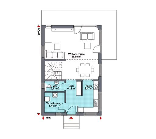 Danwood Living Point 122 Floorplan 1