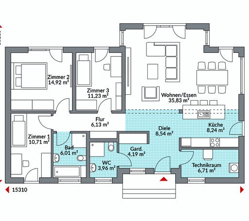 Danwood - Perfect 116 Floorplan 1