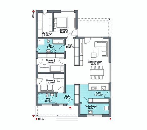 Danwood - Perfect 120 Cube Floorplan 1