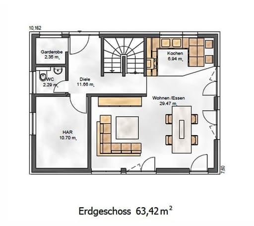 Das Vielseitige 125.1 Floorplan 1