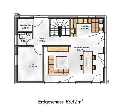 Das Vielseitige 125 Floorplan 1