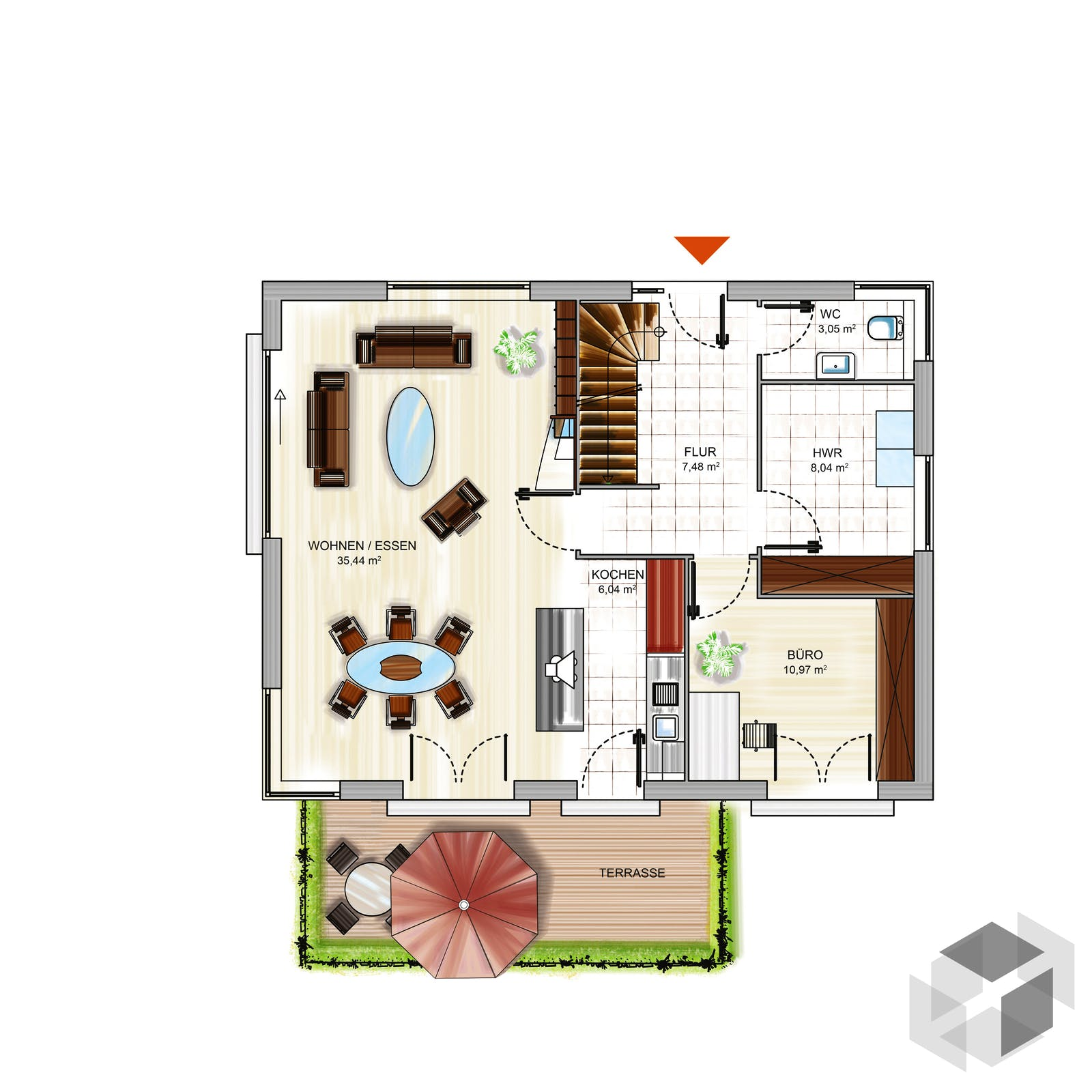 icon 3 von dennert massivhaus komplette daten bersicht. Black Bedroom Furniture Sets. Home Design Ideas