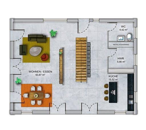 Dennert ICON 4 XL Floorplan 1