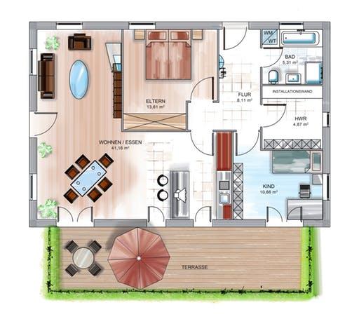 Dennert ICON Bungalow Floorplan 2
