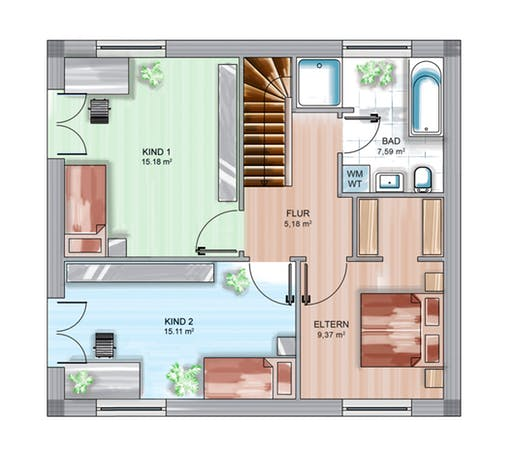 Dennert ICON Cube Floorplan 1