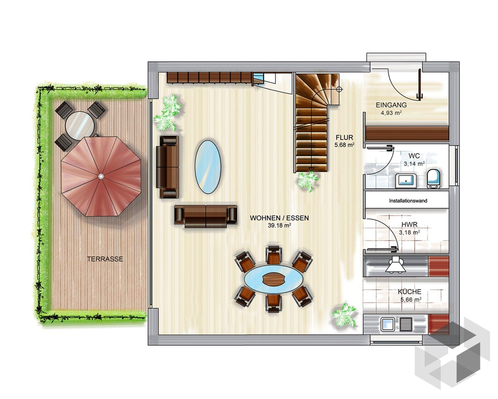 icon cube von dennert massivhaus komplette. Black Bedroom Furniture Sets. Home Design Ideas