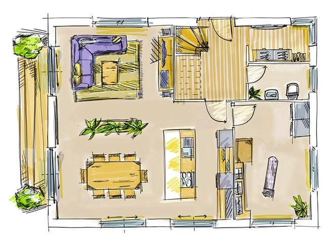 ICON 3.20 Aktionshaus von Dennert Massivhaus Grundriss 1