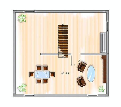 Dennert ICON 3 City mit Flachdach Floorplan 3