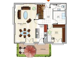 ICON 3+ City mit Satteldach von Dennert Massivhaus Grundriss 1
