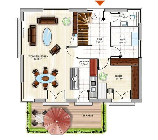 Dennert ICON 3+ City m. SD Floorplan 1
