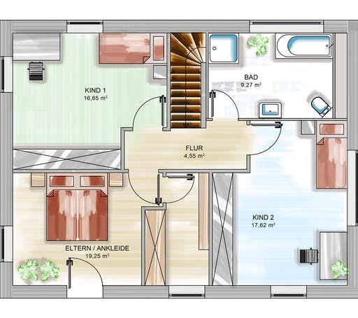 Dennert ICON 3+ City m. SD Floorplan 2