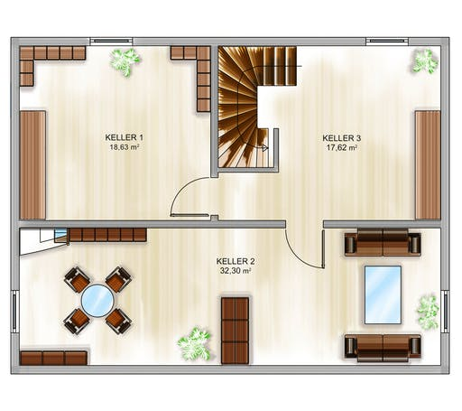 Dennert ICON 3+ City m. SD Floorplan 3