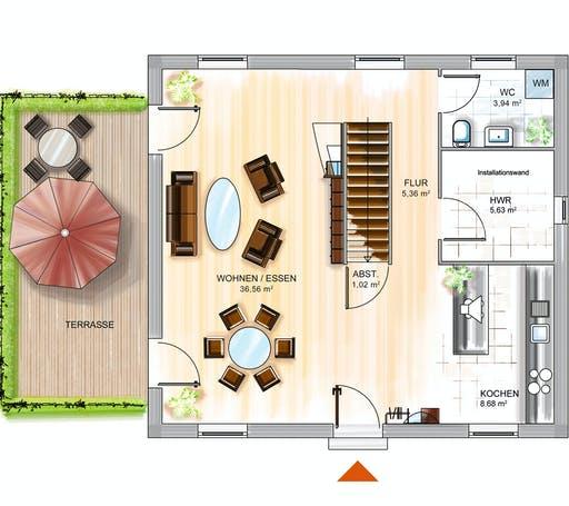 Dennert ICON 3 City mit Satteldach Floorplan 1
