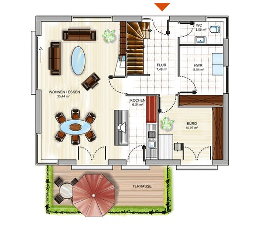 Dennert ICON 3+ City m. WD Floorplan 1