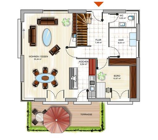 Dennert ICON 3+ mit Quergiebel Floorplan 1