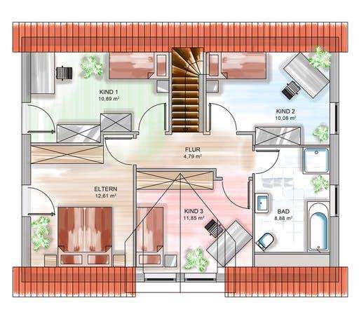 Dennert ICON 3+ mit Quergiebel Floorplan 2
