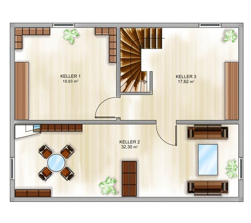 Dennert ICON 3+ mit Quergiebel Floorplan 3