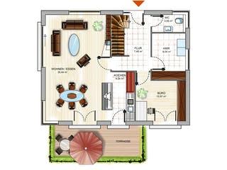 ICON 3+ mit Satteldach von Dennert Massivhaus Grundriss 1