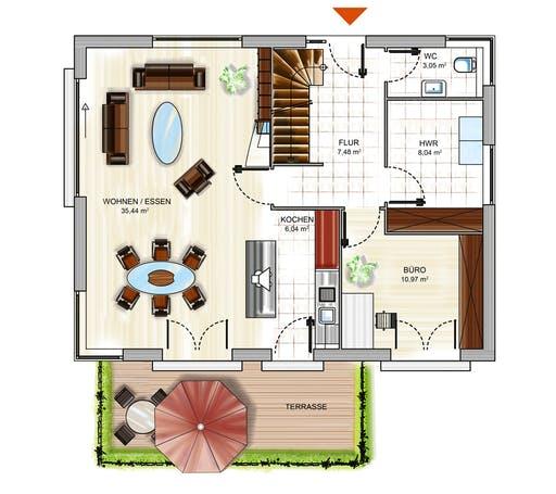 Dennert ICON 3+ m. SD Floorplan 1
