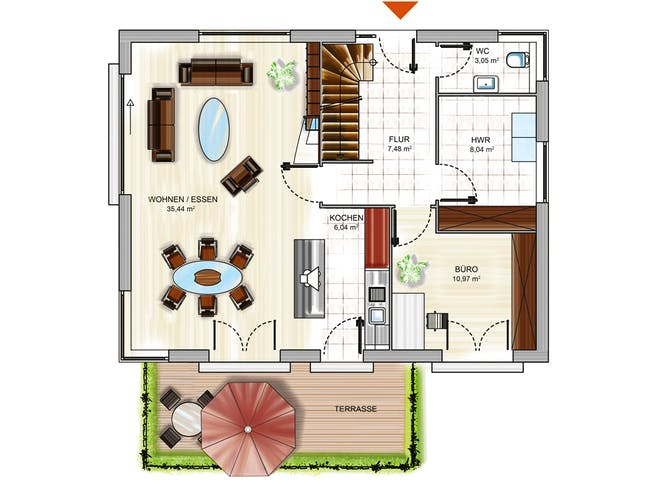 Dennert ICON 3+ m. SD Floorplan 1