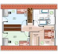 ICON 3+ mit Satteldach Grundriss