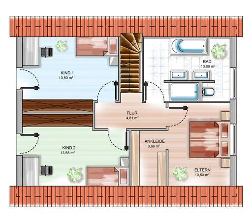 Dennert ICON 3+ m. SD Floorplan 2