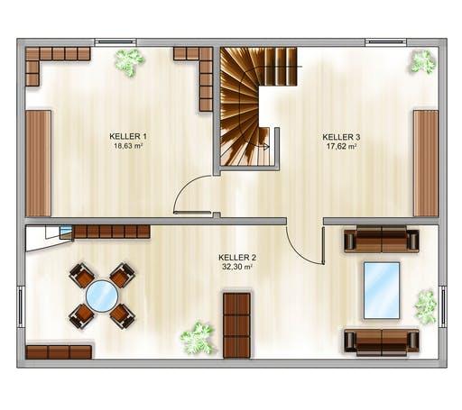 Dennert ICON 3+ m. SD Floorplan 3