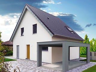 ICON 3 mit Satteldach von Dennert Massivhaus Außenansicht 1