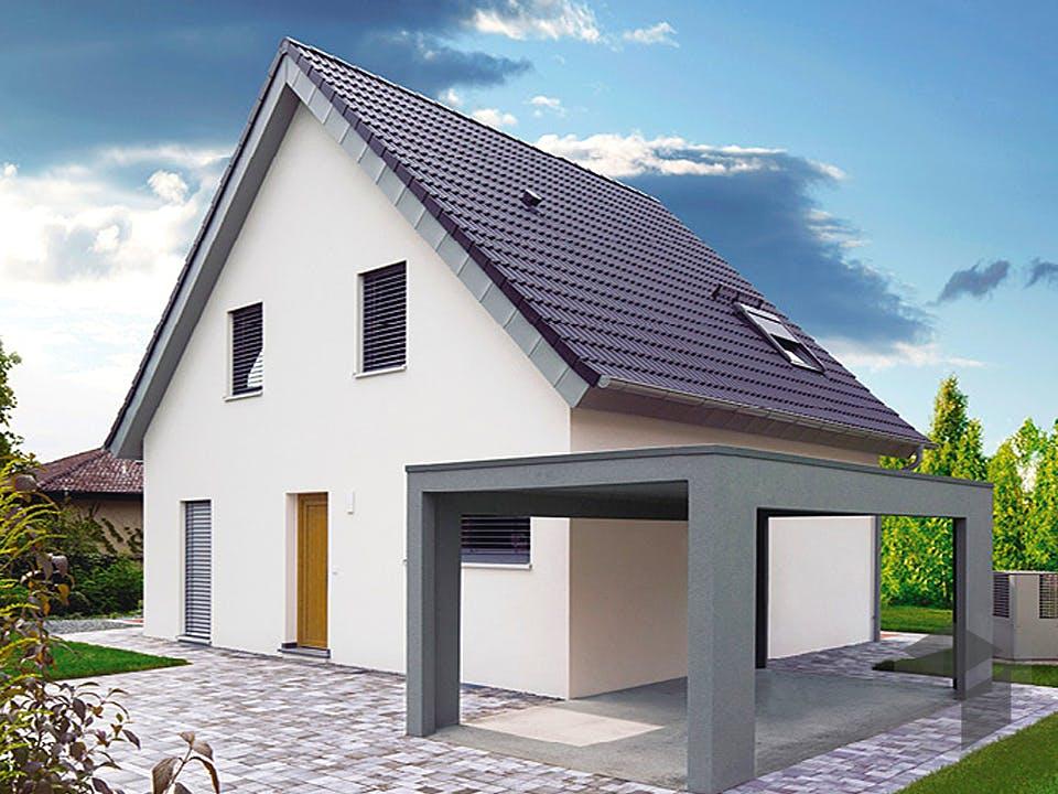 ICON 3 mit Satteldach von Dennert Massivhaus Außenansicht