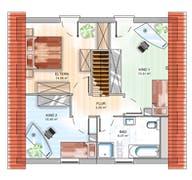 ICON 3 mit Satteldach Grundriss