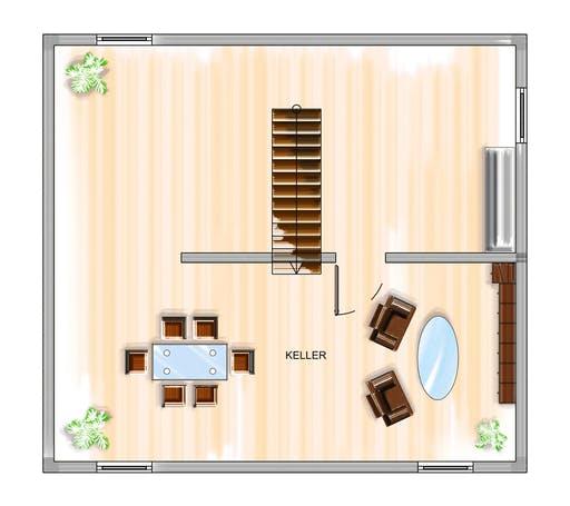 Dennert ICON 3+ mit Satteldach Floorplan 3